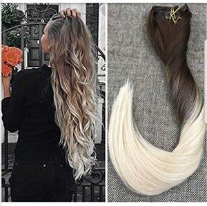 Ugeat human hair clip in extentions NWB
